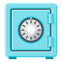 Bank, save, Safe, safety, password, Lock, secure SkyBlue icon