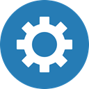Gear, preferences, settings, Cog, Circle, customize SteelBlue icon