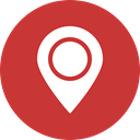 red, Map, marker, navigation, Gps, location, Direction Firebrick icon