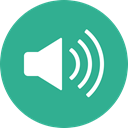 music, sound, speaker, volume, Audio, Circle LightSeaGreen icon