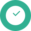 Clock, time, red, deadline, time management, cercle LightSeaGreen icon