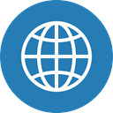 global, globe, international, Language, world, Circle, travel SteelBlue icon