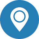 Blue, Map, marker, navigation, Gps, location, Direction SteelBlue icon