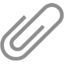 Paperclip, document, File, Attach Gray icon