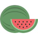 Fruit, watermellon Gray icon