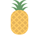 Fruit, pineapple SandyBrown icon