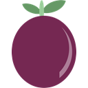 Fruit, passion Purple icon