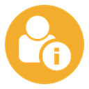 Information, interface, Info, user Goldenrod icon