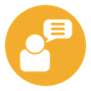 Message, Comment, Chat, talk, Bubble Goldenrod icon