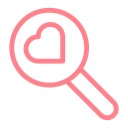 dating, wedding, valentine, search, Heart, love Black icon