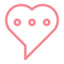 love, Chat, dating, wedding, valentine, Heart Black icon