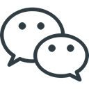 media, Logo, Social, Wechat Black icon