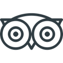 Logo, Social, tripadvisor, media DarkSlateGray icon