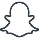 Logo, Social, Snapchat, media Black icon