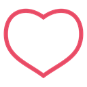 valentine's day, valentine, red, Heart, love, pink Black icon