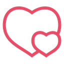 Hearts, valentine's day, valentine, pink, Heart, love Black icon