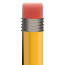 Eraser, pencil's eraser, pencil Black icon