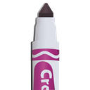 marker, marker tip, purple marker Black icon