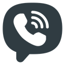 media, Logo, Social, Viber DarkSlateGray icon