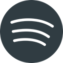 Logo, Social, Spotify, media DarkSlateGray icon
