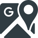 Logo, google, Maps, Brand, Logos, Brands DarkSlateGray icon