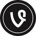 Social, Vine, media, Logo Black icon