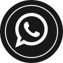 media, Logo, Social, Whatsapp Black icon