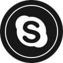 media, Logo, Skype, Social Black icon