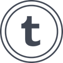 Tumblr, media, Logo, Social Black icon