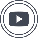 media, play, Logo, Social, youtube DarkSlateGray icon