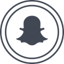 media, Logo, Social, Snapchat DarkSlateGray icon