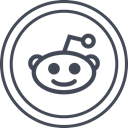 media, Logo, Reddit, Social DarkSlateGray icon