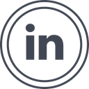 Social, media, Logo, Linkedin DarkSlateGray icon