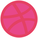 dribbble, network, Logo, Social IndianRed icon