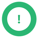 green, warning, exclamation MediumSeaGreen icon