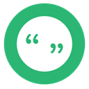 green, quotes, Quotation Mark Icon