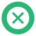 denied, Crossed, failure, times, failed, green, Deny MediumSeaGreen icon