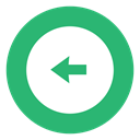 Arrow, leftarrow, green, Left MediumSeaGreen icon