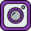 Social, Instagram, media, Logo Lavender icon