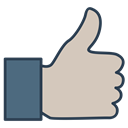 user, Client, thumb up, Quality, satisfied customer Silver icon