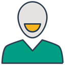 profile, person, Avatar, user, Client, Customer, Consumer DarkCyan icon