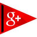 media, plus, online, google, Social Red icon