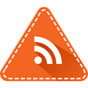 triangle, App, Rss, News, Social, Colorful, rss reader Chocolate icon