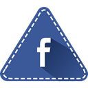 Colorful, Hexagon, triangle, Logo, Facebook, Social, fb DarkSlateBlue icon
