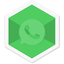 Social, Colorful, Whatsapp, Chat, triangle, App, Message MediumSeaGreen icon