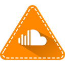Hexagon, triangle, Application, Logo, Social, Soundcloud, Colorful DarkOrange icon