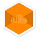 Soundcloud, Colorful, Hexagon, App, Audio, Social, appicon DarkOrange icon