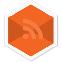 rss reader, Social, appicon, Hexagon, News, App, Rss Chocolate icon