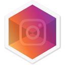 Colorful, Instagram, Hexagon, Logo, Social, appicon, insta WhiteSmoke icon
