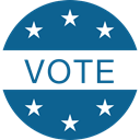 vote, Election, voting, chose, voter Teal icon